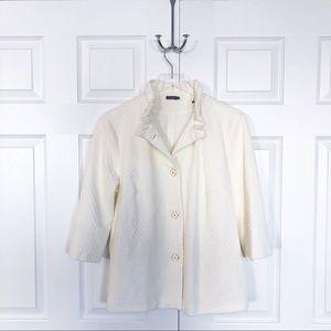 J. McLaughlin Textured Ivory Jacket